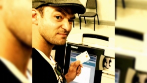 This photo of Justin Timberlake in the voting booth posted on Instagram on Monday drew questions about whether he was breaking the law.