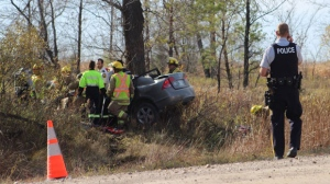 RCMP said alcohol was not a factor in the collision and that both teens were wearing seatbelts. (file photo)