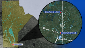 A 33-year-old woman who planned to hike the Mantario Trail to Mantario Lake and then camp overnight was supposed to be back Thursday afternoon.