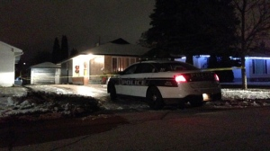 The front and back of the home in the 400 block of Royal Avenue were taped off.
