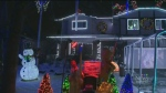 Light display at River East home for cancer resear