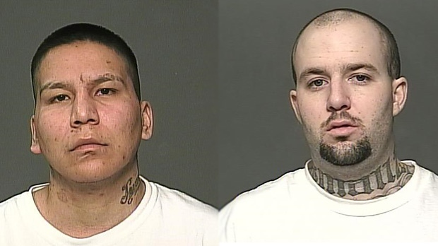 James Andrew Jewels is pictured here on the right, and Michael Tylor Fless is pictured on the left. (Source: Winnipeg police)