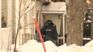 On Saturday, police tactical units raided a house in the 800 block of College Avenue.