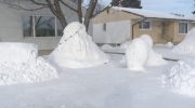 Elaborate snow sculptures vandalized in North End
