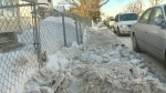 Snowy sidewalks near school prompt complaints