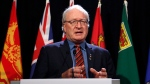 P.E.I. premier Wade MacLauchlan speaks to the media at the Chateau Laurier hotel before the First Ministers' Meeting in Ottawa on Friday, December 9, 2016. (Patrick Doyle/ The Canadian Press)