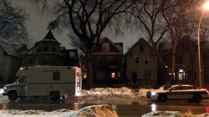 Police were called to a home in the 600 block of Sherbrook Street Thursday to check on a person's well-being. (Source: Stephanie Tsicos/CTV News)