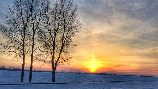 Beautiful Niverville sunset today. Photo by Erica Scott.