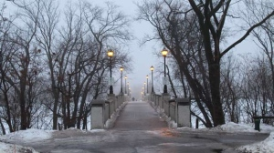 A foggy start to the day at Assiniboine Park. Photo by Leslie MacFarlane.
