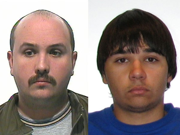 Police are searching for Kevin Douglas Maryk, 38, and Cody John McKay, 20, in the disappearance of eight-year-old Dominic Maryk and his sister, Abby, 6.