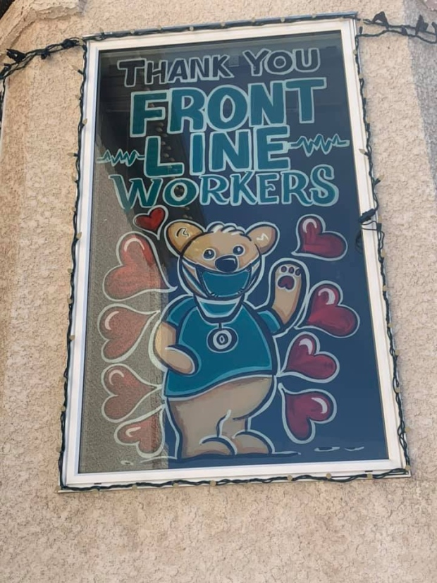 Bear stain glass