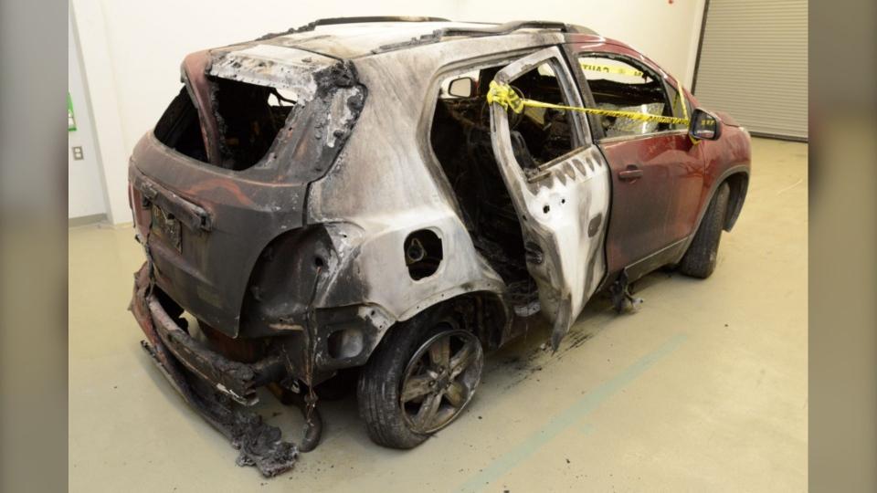 bud paul burned car