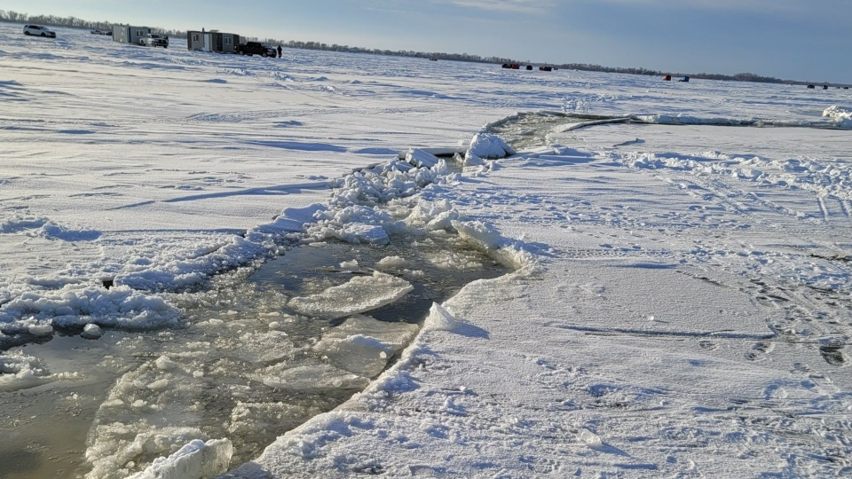 Ice Crack Lake Winnipeg