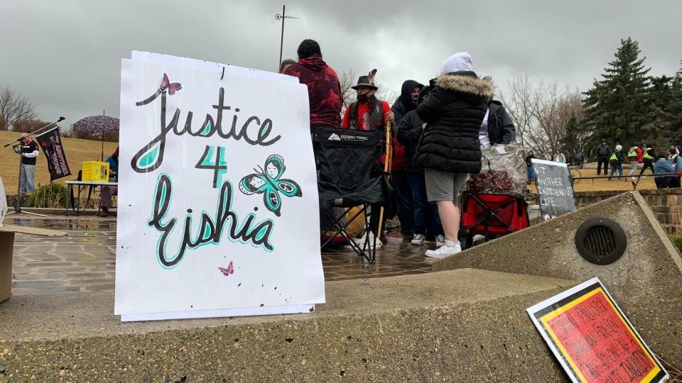 Eishia Hudson vigil