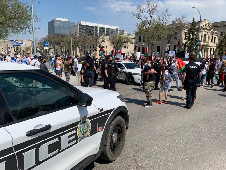 protestors at Legislature