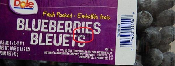 Dole Blueberries recall