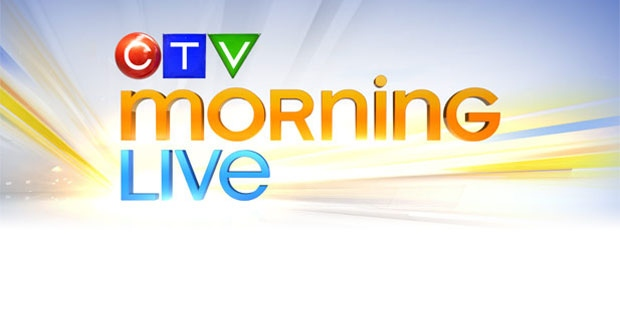 CTV Morning Live airs 6 - 9 AM on weekdays.