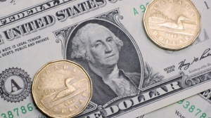 The loonie was up 0.17 of a cent to 97.34 cents US. (file image)