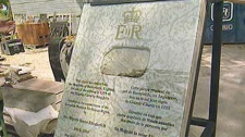 The cornerstone of the Canadian Museum of Human Rights includes a stone from St. Mary's Priory.