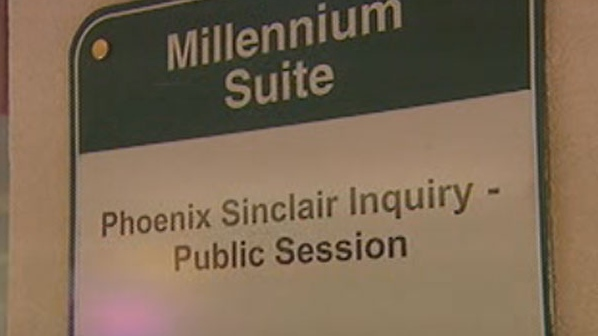 A hearing is being held for the Phoenix Sinclair Inquiry at the Winnipeg Convention Centre.