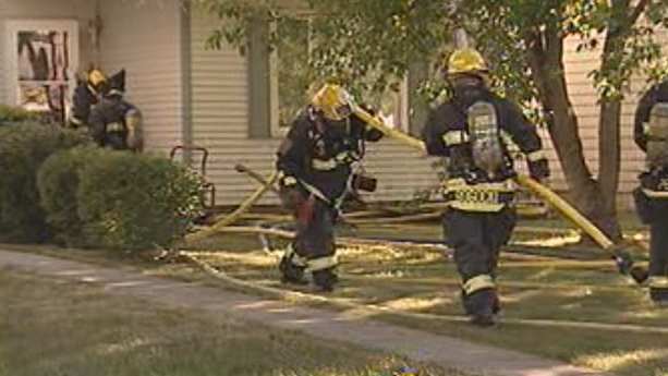 Fire crews respond to Birchbark Blaze in Winnipeg
