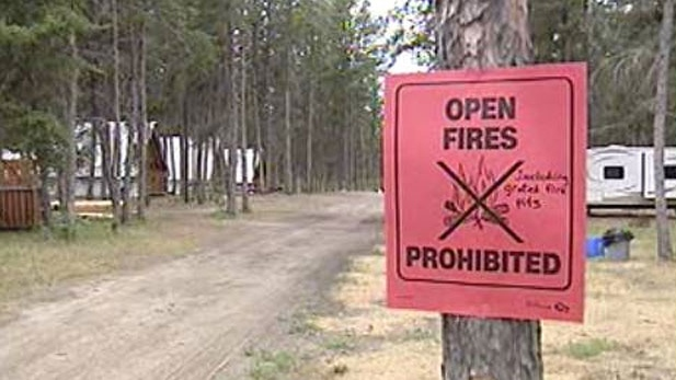 Fires are permitted at camp grounds but only in designated, enclosed fire pits. (file image)