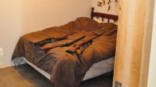 RCMP raided two properties and seized $1.3 million worth of marijuana and several firearms.