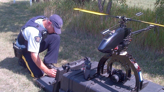 Manitoba RCMP held an event Aug. 23 to display the units called the Unmanned Aerial System.