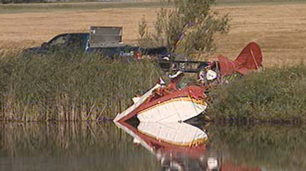 The plane crashed just north of Manitou, about 170 kilometres southwest of Winnipeg, around 8 p.m. on Aug. 22, 2012.
