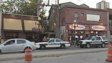 Police evacuated an Osborne Village restaurant as a precaution Monday evening.