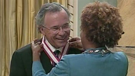 Former Manitoba Premier Gary Filmon is honoured with Order of Canada at Rideau Hall.