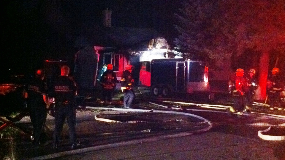 A fire destroyed a home on Sadler Avenue early Friday morning.