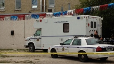 Winnipeg police's forensic identification section was on scene investigating Sunday.