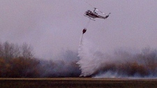 Water bomber fights fire in southeastern Manitoba