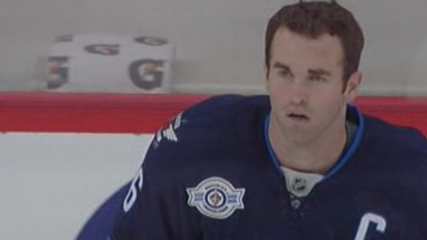 Winnipeg Jets' captain Andrew Ladd is shown in a file image.